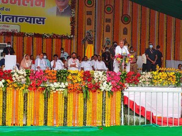 किसान सम्मेलन में मुंगेली को मुख्यमंत्री ने दी 215 करोड़ रूपए के विकास कार्यों की सौगात